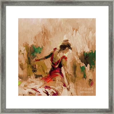 Framed Print featuring the painting Spanish Dance Culture  by Gull G