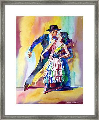 Spanish Dance Framed Print by David Lloyd Glover
