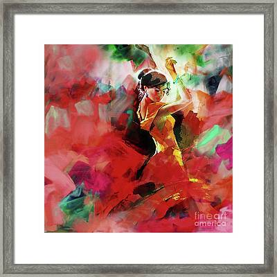 Framed Print featuring the painting Spanish Dance by Gull G