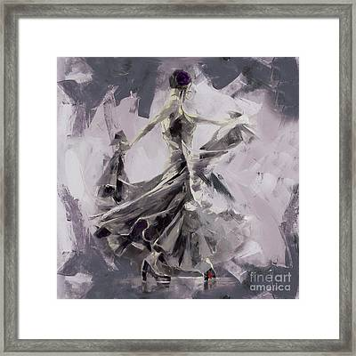 Framed Print featuring the painting Spanish Dance Painting 03 by Gull G
