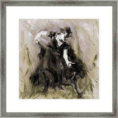 Framed Print featuring the painting Spanish Dancer 3400i by Gull G