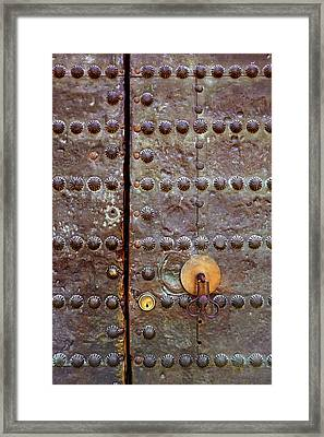 Spanish Door Framed Print by Carlos Caetano