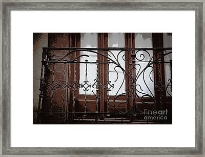Spanish Door With Flair Framed Print