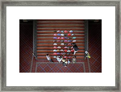 Spanish Fans Sale Framed Print