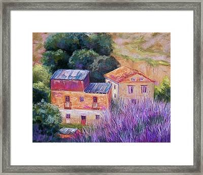 Spanish Farmhouses Framed Print by Candy Mayer