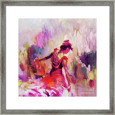 Framed Print featuring the painting Spanish Female Art 0087 by Gull G