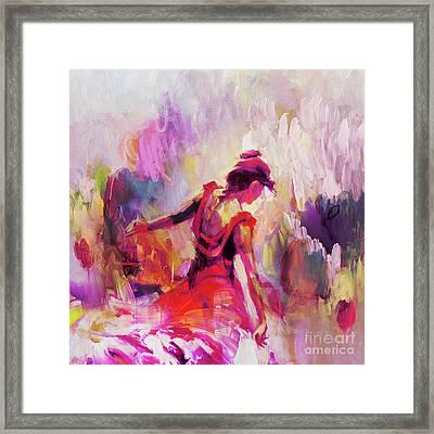 Spanish Female Art 0087 Framed Print