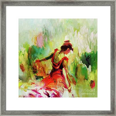 Framed Print featuring the painting Spanish Female Art 56y by Gull G