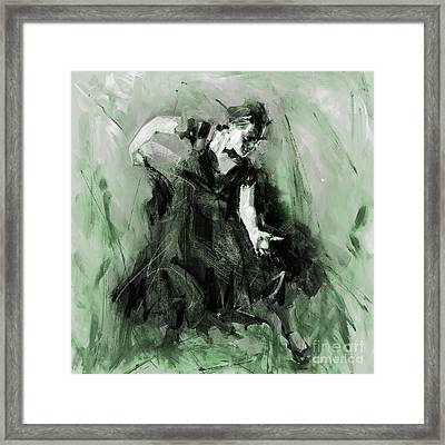 Framed Print featuring the painting Spanish Flamenco Dancer by Gull G