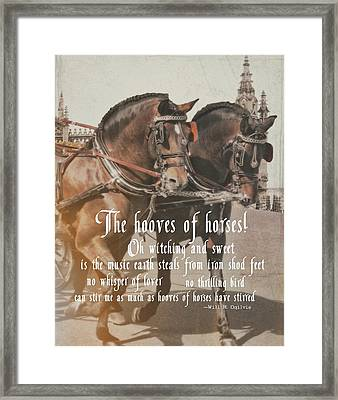 Spanish Horses Quote Framed Print by JAMART Photography