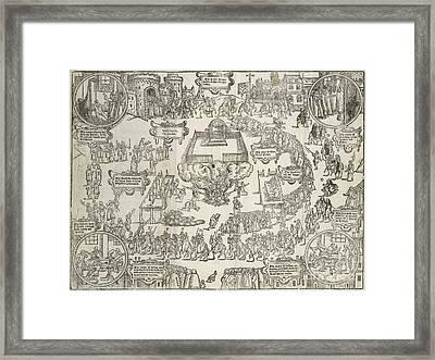 Spanish Inquisition, 16th Century Framed Print