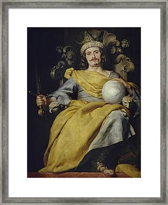 Spanish King Framed Print by Alonzo Cano
