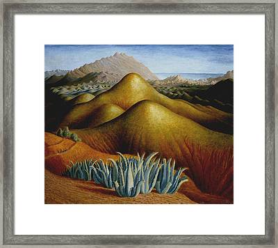 Spanish Landscape With Mountains Framed Print by Dora Carrington