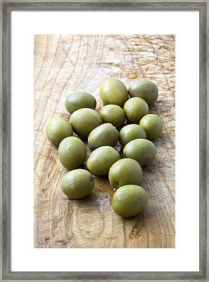 Spanish Manzanilla Olives Framed Print