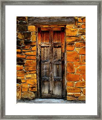 Spanish Mission Door Framed Print