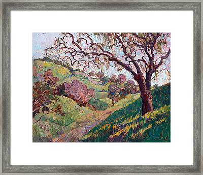 Framed Print featuring the painting Spanish Moss by Erin Hanson