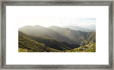 spanish mountain range, Malaga, Andalusia, Framed Print by Perry Van Munster