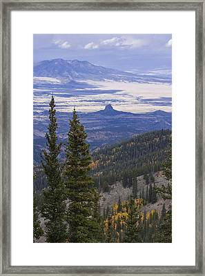 Framed Print featuring the photograph Spanish Peaks by Charles Warren