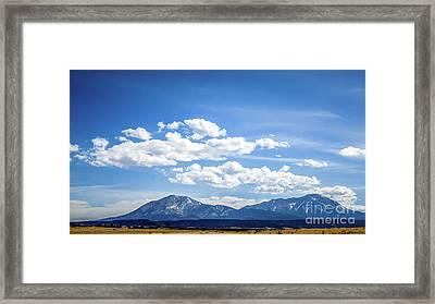 Spanish Peaks Framed Print by Jon Burch Photography