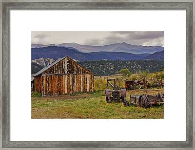 Framed Print featuring the photograph Spanish Peaks Ranch 2 by Charles Warren