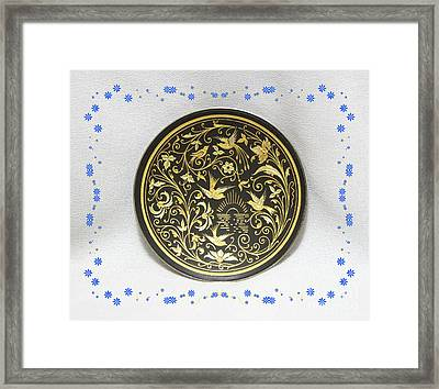 Framed Print featuring the photograph Spanish Plaque by Linda Phelps