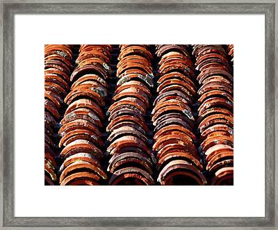 Spanish Roof Tiles Framed Print