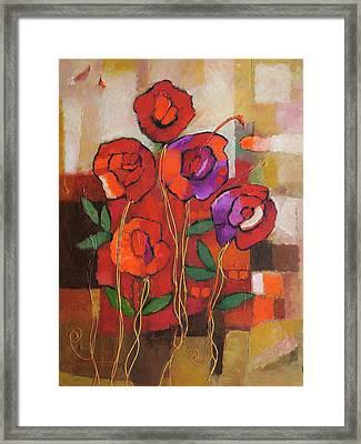 Spanish Roses Framed Print by Lutz Baar