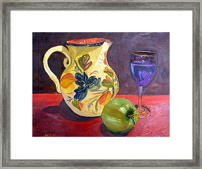 Spanish Sangria Framed Print by Maria Soto Robbins