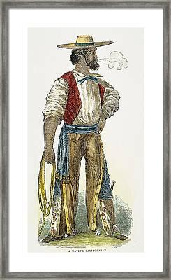 Spanish Settler, 1852 Framed Print by Granger