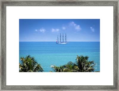 Spanish Ship Juan Sebastian Elcano Royal Spanish Navy Framed Print by Rene Triay Photography