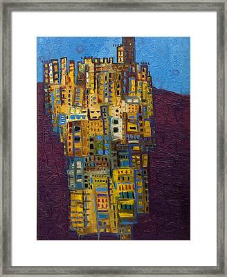 Spanish Skies Framed Print by Maria Curcic