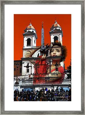Spanish Steps Photographer Framed Print by John Rizzuto