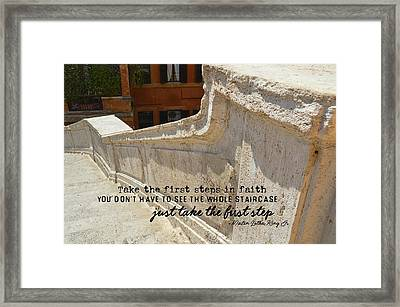 Spanish Steps Quote Framed Print