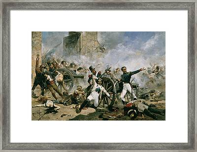 Spanish Uprising Against Napoleon In Spain Framed Print by Joaquin Sorolla y Bastida