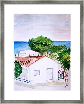 Spanish Vacation Framed Print