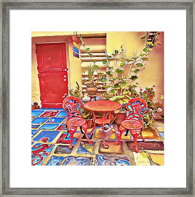 Spanish Village Art Center Framed Print by Karyn Robinson