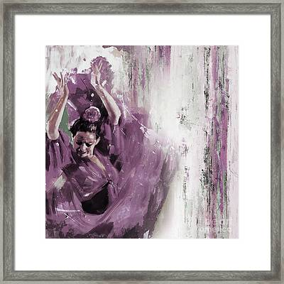 Framed Print featuring the painting Spanish Woman Dance  by Gull G