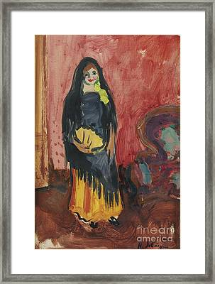 Spanish Woman Framed Print by Celestial Images