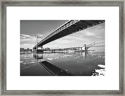 Spanning Bridges Framed Print