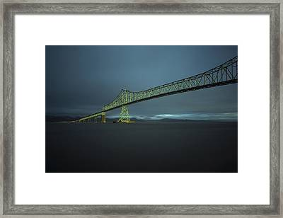 Spanning Columbia Framed Print by Inge Riis McDonald