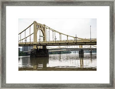 Spanning The Allegheny Framed Print by David Bearden