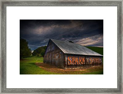 Spark Stoves Barn Framed Print