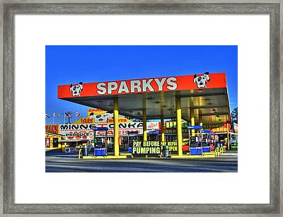 Sparkeys Framed Print by Corky Willis Atlanta Photography