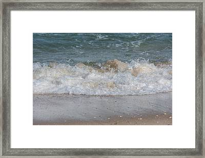 Sparking Ocean Wave Jersey Shore Framed Print by Terry DeLuco