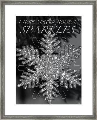 Sparkle Holiday Card Framed Print by Debra     Vatalaro