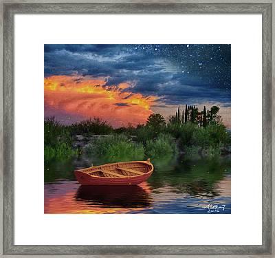 Sparkle Pond Framed Print