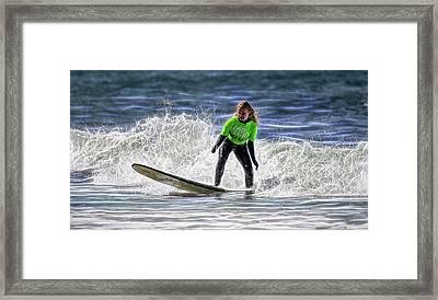 Sparkle Surf Framed Print