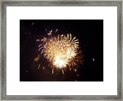 Sparklers In The Sky Framed Print by Rosanne Bartlett