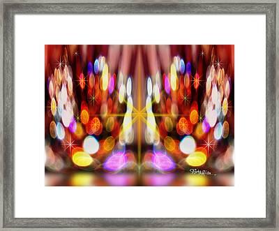 Sparkles #8885_2 Framed Print by Barbara Tristan
