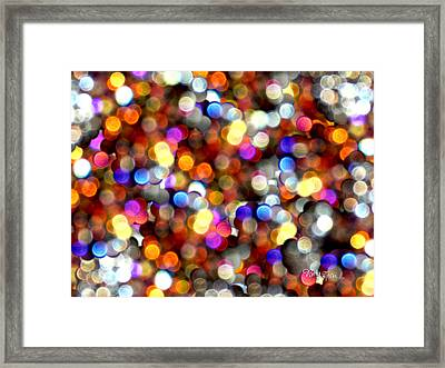 Sparkles #8885_4 Framed Print by Barbara Tristan